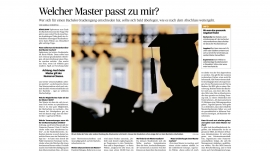 Welcher Master passt zu mir?