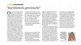 Pressebericht - Warnhinweis